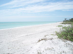 Beach at Wulfert, Sanibel Island, Florida, loo...