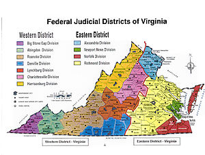Map of the United States District Courts in Vi...