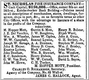 St Nicholas Insurance Company Advertisement