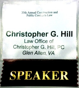 Name Tag from Construction Seminar