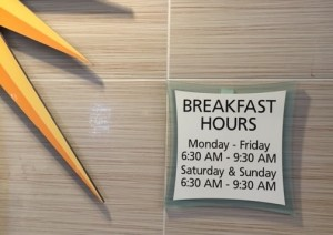 MDB Breakfast Hours Photo