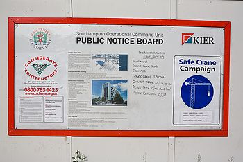 Informative notice on construction site - geog...
