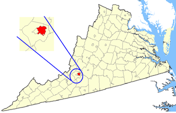 Maps of counties in Virginia