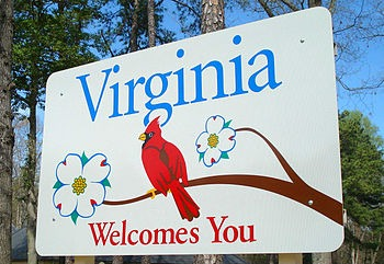The Virginia welcome sign at the Virginia welc...